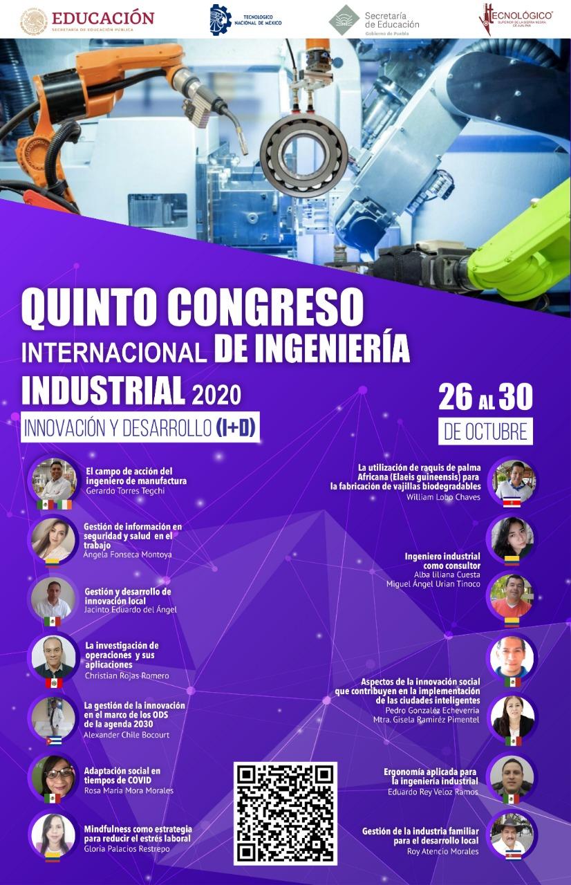 Quinto congreso internacional de Ingeniería industrial